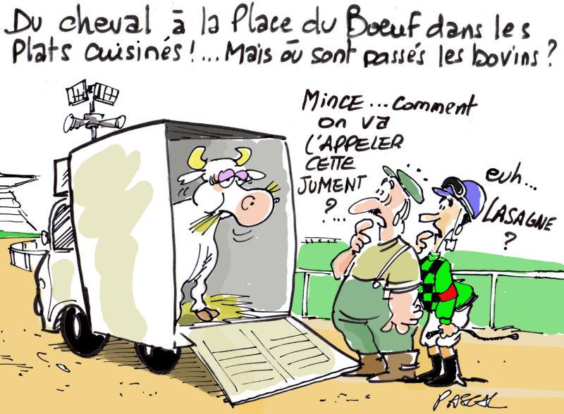 Photos humour de vache qui rit de viande de cheval de findus - Vache dessin humour ...