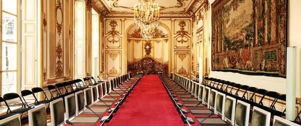 La salle du conseil des ministres, à l'hôtel Matignon