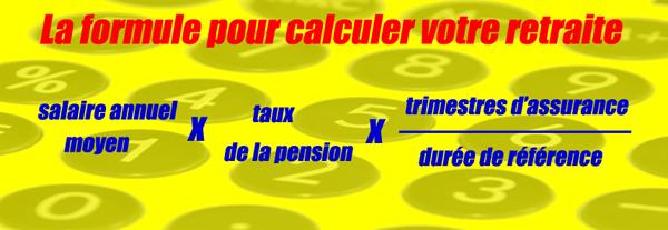 la formule de calcul de votre retraite