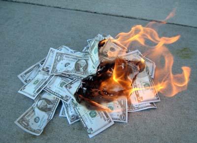 Le cash burn à la française / Une France bien gérée permettrait la suppression des impôts et la distribution d'une prime de 1000€ à chaque français