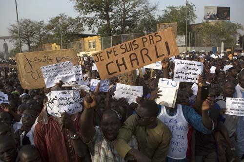 Au Mali, la manifestation anti-Charlie tourne à l'emeute