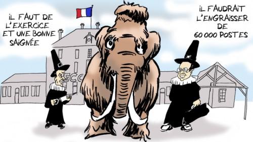 Mammouth toujours plus de fonctionnaires en France