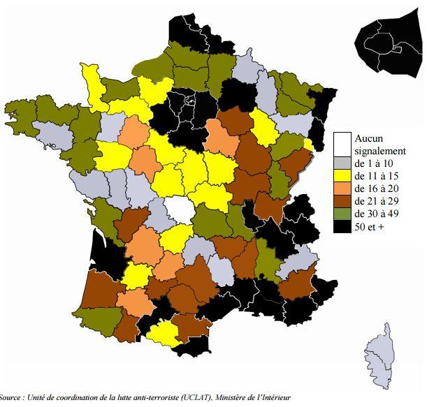 nombre de signalements en France en 13 mois